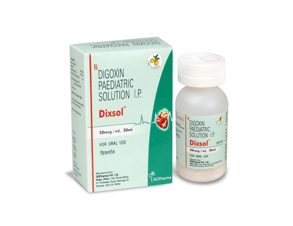 Dixsol Digoxin Paediatric Solution B P Usp Sgpharma