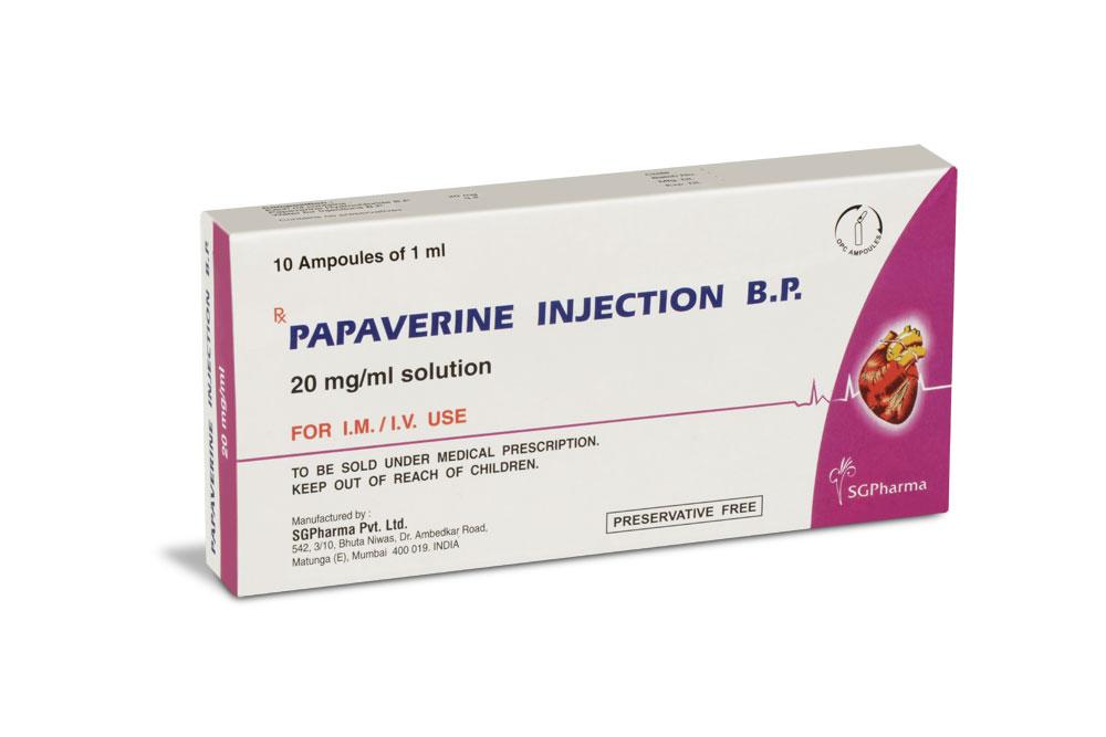 Tri Mix Kit : Papaverine injection b p sgpharma